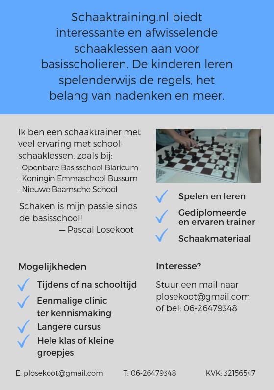 Flyer schoolschaakles achterkant