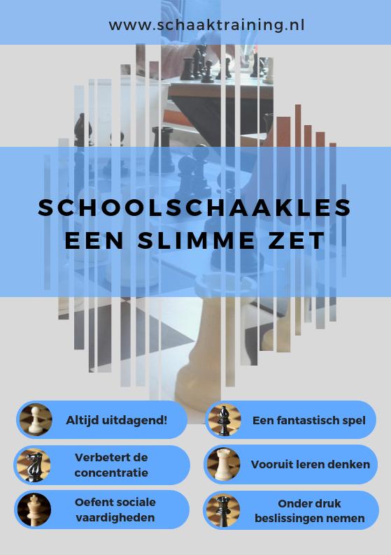 Flyer schoolschaakles