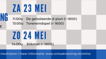 Permalink to: 23 en 24 mei: Gratis Online Schaaktraining