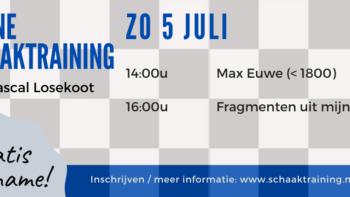 Permalink to: 5 juli: Gratis online schaaktraining