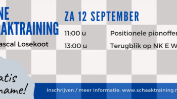 Permalink to: Gratis online schaaktraining 12 september